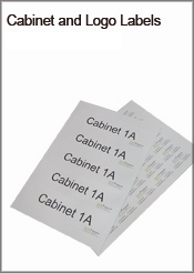 Cabinet and Logo Labels