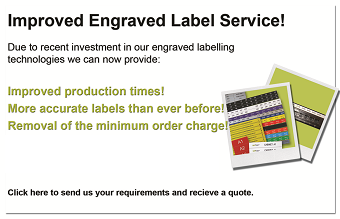 Engraved Labels - improved lead times