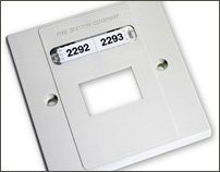 Non-adhesive Outlet labels